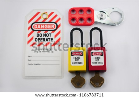 Lock out & Tag out , Lockout station,machine - specific lockout devices and lockout point #1106783711