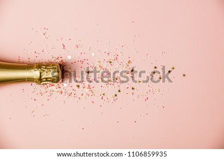 Flat lay of Celebration Royalty-Free Stock Photo #1106859935