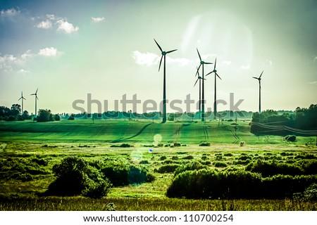 Wind Generators, Ecology Royalty-Free Stock Photo #110700254