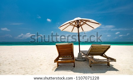 Beautiful beach. Summer holiday and vacation concept background. Inspirational tropical landscape design. Tourism and travel design #1107071228