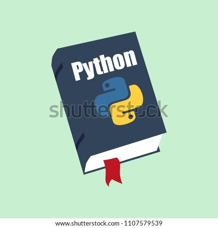 Icon of books about programming. A book on the Python programming language.