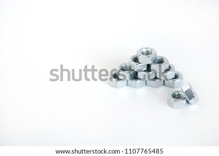 Female screw on white background #1107765485