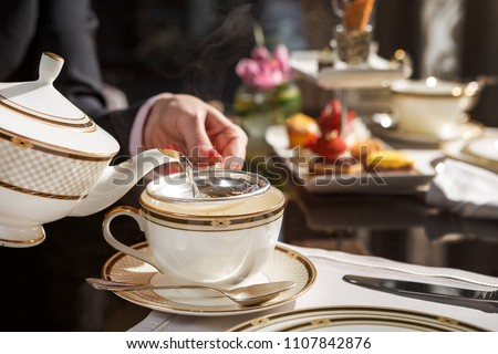 one of the finest afternoon tea in town Royalty-Free Stock Photo #1107842876