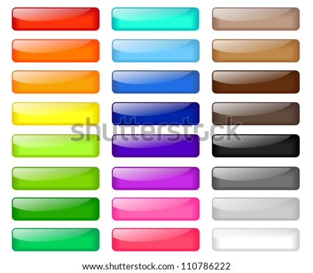 Set of colored web buttons Royalty-Free Stock Photo #110786222