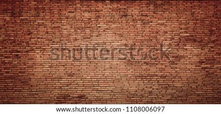 red brick wall texture grunge background #1108006097
