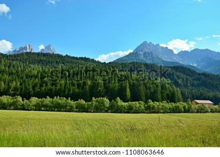 Italian Dolomites -view from the San Candido #1108063646