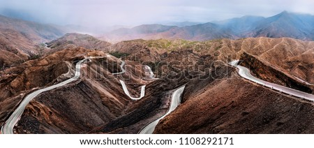 Road in Atlas Mountains in Morocco