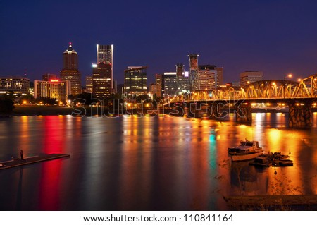 A Beautiful nightview of portland city