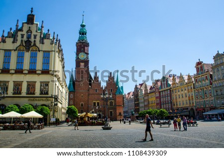 Wroclaw, Poland - MAY 15th 2018: Main Square. #1108439309