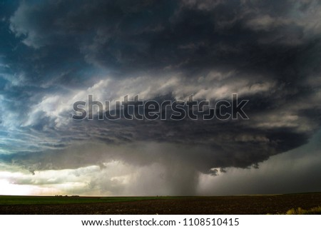 Thunderstorms in the open plains