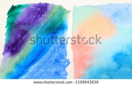 Abstract watercolor background  #1108843838