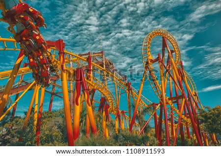 Roller Coaster - Beto Carrero World - Santa Catarina . Brazil #1108911593