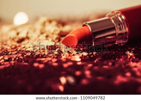 Red lipstick isolated on white background #1109049782