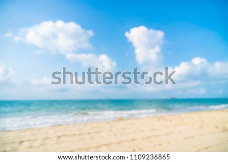 Abstract blur defocused beautiful beach and sea for background #1109236865