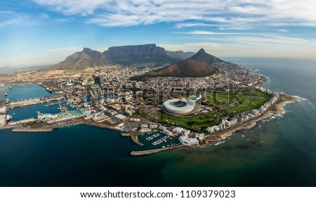Capetown picture, taken from a helicopter scenic flight.