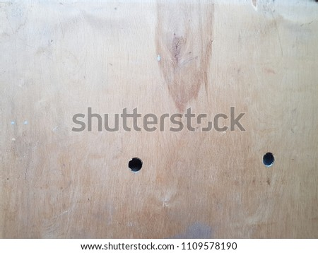 wood or plywood with holes, texture with cracks #1109578190