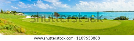 Stunning view of a coastal golf course #1109633888