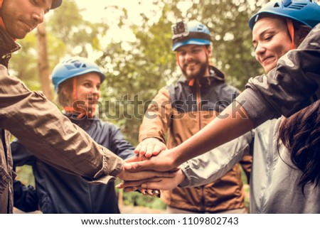 Team building outdoor in the forest #1109802743