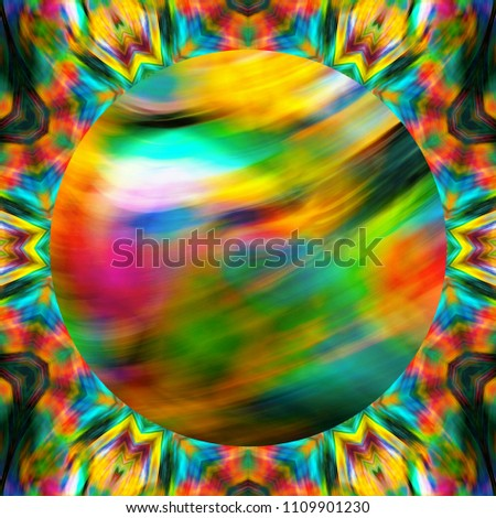 Creative pattern background with space for text in center for design labels, booklets, invitations, flyers and posters or covers. Template for creative products decoration. Abstract juicy painting art #1109901230