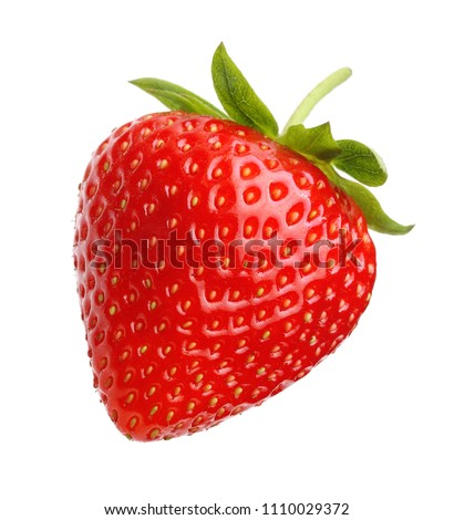 Red berry strawberry isolated on white background #1110029372