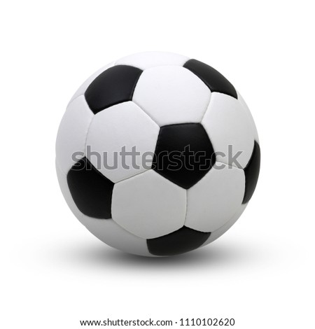 soccer ball isolated on white #1110102620
