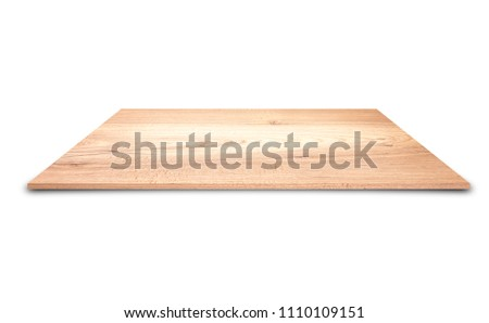 Wooden floor isolated on the white background. #1110109151