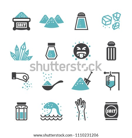 Salt icon set Royalty-Free Stock Photo #1110231206