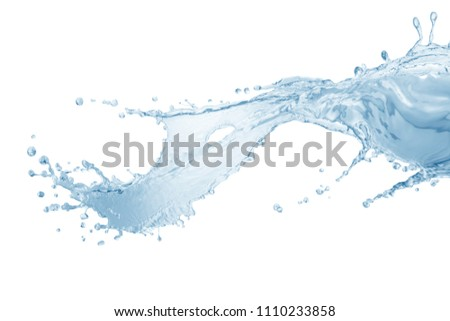 Water, water splash isolated on white background #1110233858