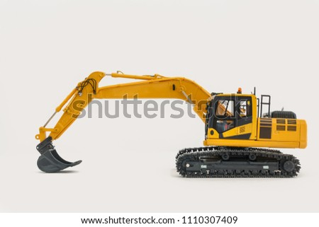 Excavator loader model on isolated white background #1110307409