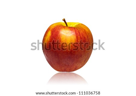 Juicy red apple isolated on a white background. #111036758