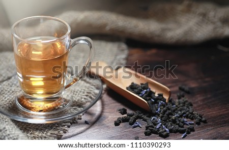 Brewed tea on a serving table #1110390293