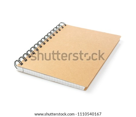 notebook isolated at white background #1110540167