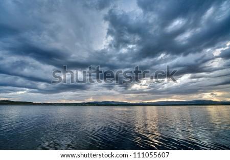 Windstorm Royalty-Free Stock Photo #111055607