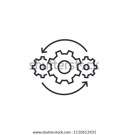 Operations line icon on white Royalty-Free Stock Photo #1110612431