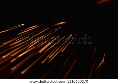 fire with sparks on a black background #1110680270