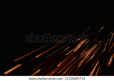 fire with sparks on a black background #1110689714