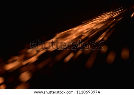 fire with sparks on a black background  #1110693974
