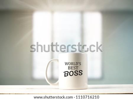 World's best boss text on coffee mug in coffeee #1110716210