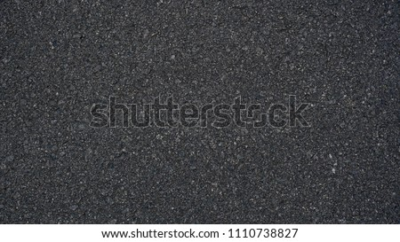 Surface grunge rough of asphalt, Seamless tarmac dark grey grainy road, Texture Background, Top view #1110738827