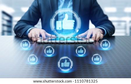 like button. Business Internet Social Media Technology Network Concept. #1110781325