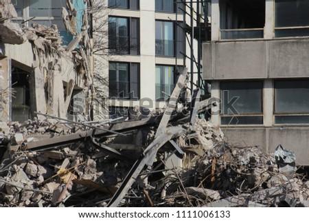 destruction and demolition  of a building  #1111006133