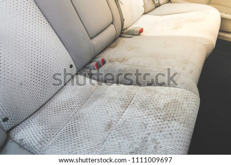 dirty  interior in the car. #1111009697