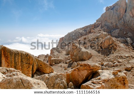 Beautiful rocks of granite rock in the mountains #1111166516
