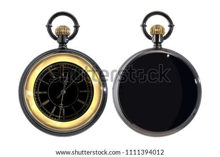 Pocket watch isolated on white background #1111394012