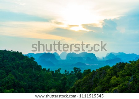 Sunset on mountain Tiger cave Temple 2 #1111515545