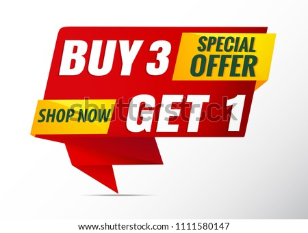 poster sale banner buy 3 get 1 free