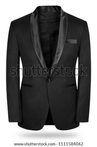 Black Wool Tuxedo #1111584062