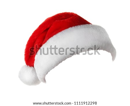 Santa Claus red hat on white background #1111912298