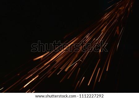 Sparks from welding steel #1112227292