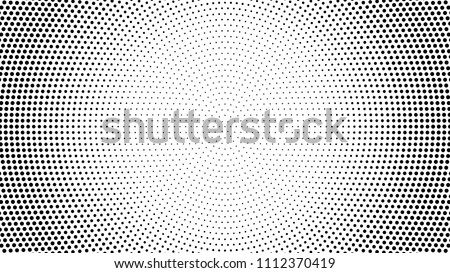 Halftone dotted background. Halftone effect vector pattern. Circle dots isolated on the white background. Royalty-Free Stock Photo #1112370419
